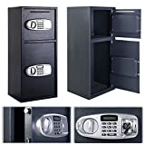 Teekland Safe Box, Security Large Electronic Digital Steel Safe Black Box & Silver Gray Panel
