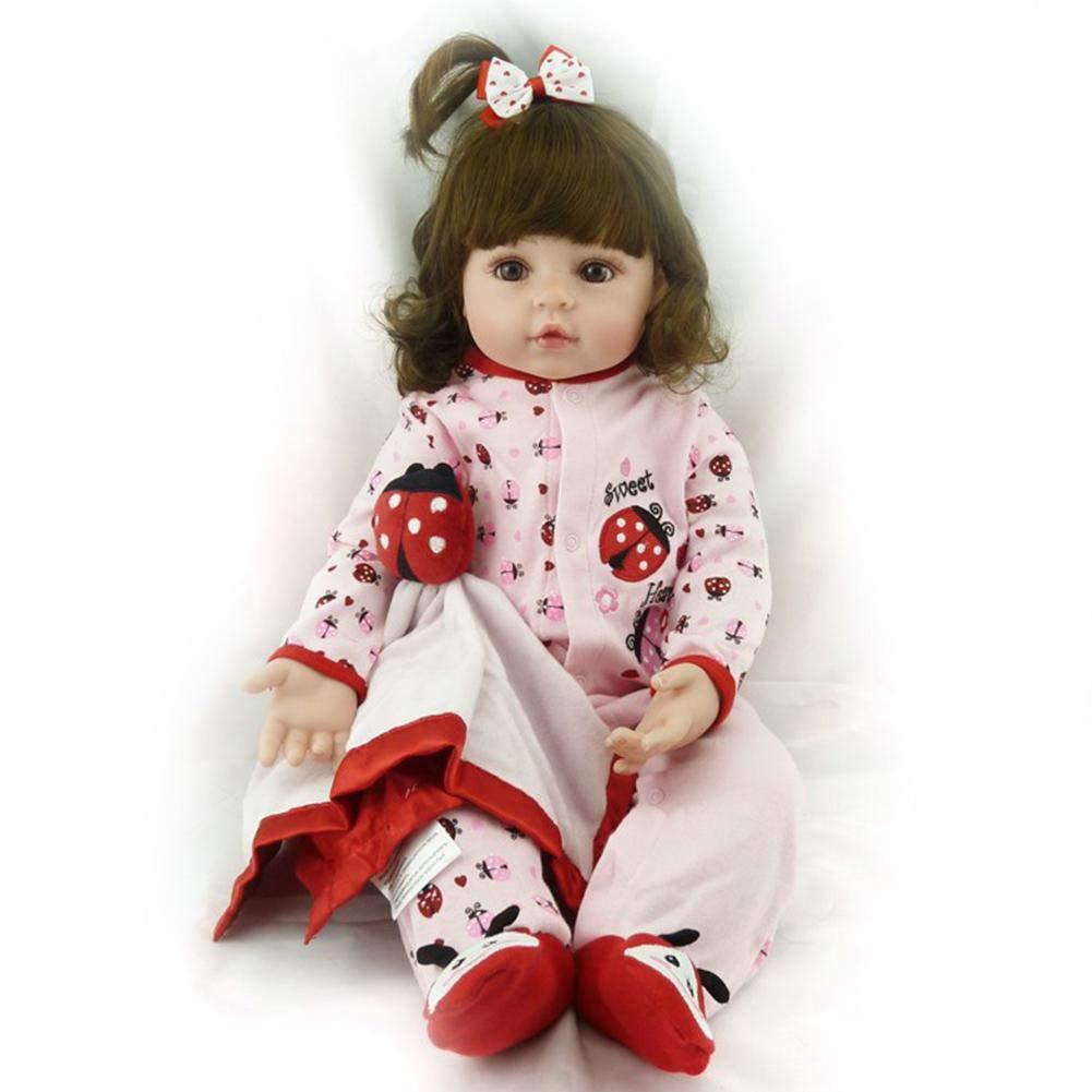 Reborn Baby Doll High Silikon 60 Cm Kinder Freund Lebensecht Boy Girl Spielzeug, Wasserdicht, Mit Outfit Für Thanksgiving Schwarz Freitag Christmas Day Marienkäfer Lovely Beetle Reborn Doll 60cm