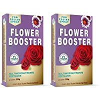 TrustBasket Flower Booster - Provides All Essential Multi Micro nutrients for All Flowering Plants Like Rose, Anthurium, Marigold etc Each 500 grms Can be diluted to More Than 125 litres