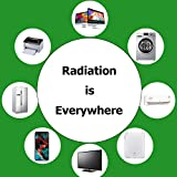 Radiation Protection Shield Sticker, Labobbon EMF Blocker for Cell Phone/ Laptop/ Tablet/ Kindle/ Router/ Wifi | Protect You and Your Family from Radiation | 1.6 x 1.23 inches, Black