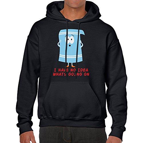 Towelie South Park Cartoon Hoodie unisex shirt (Large, Black) (South Park Towelie)