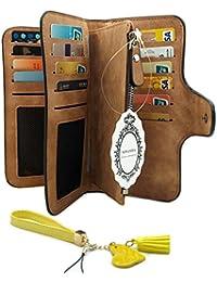 Wallet Women Multi-card Two Fold Long Zipper Clutch Purse With Keychain