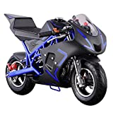 Pocket Bike Mini Motorcycle 4 Stroke Gas Power (Blue)