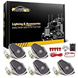 1996 f250 cab lights - Partsam 5X Smoke Cab Marker Light Roof Running Top Clearance Lamp + T10 168 5050 White LED Bulbs + Wiring Pack Replacement for 1980-1997 Ford F150 F250 F350 F Super Duty Pickup Truck