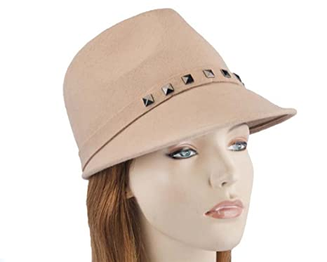 Max Alexander Beige Winter Felt Ladies Modern Hat. Latest Fashion ... e68ed4f32e0