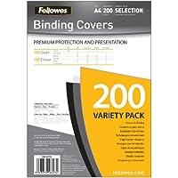 Fellowes Lot de 200 couvertures pour rapport Assortiment de couleurs