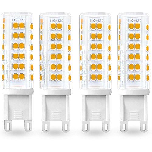 Bonlux 6W LED G9 Light Bulb 120V 50W Halogen Equivalent G9 Bi-pin LED Lamp Warm White for Crystal Chandelier Lighting, Cabinet Light, Ceiling Light Fan, Landscape Lighting (Crystal Halogen Floor Lamp)