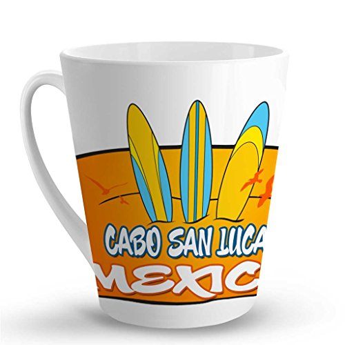 Makoroni - CABO SAN LUCAS MEXICO Surf Surfing LATTE MUG - 12 Oz. Unique Latte Mug, Coffee Cup