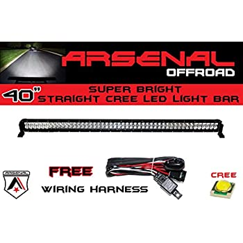 Amazon 1 40 inch 240w cree led light bar by arsenal offroad tm 1 40 inch 240w cree led light bar by arsenal offroad tm spot flood combo aloadofball Image collections