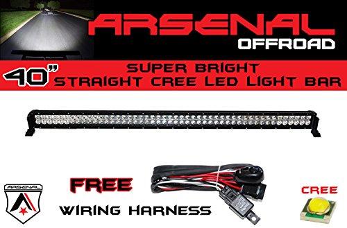#1 40 inch 240W CREE LED Light Bar by Arsenal Offroad TM spot flood combo beam Great for Offroad Trucks 4x4 radius fog, JEEP, Trucks, UTV SUV 4x4 Polaris Razor 1000 Tractor Marine Raptor