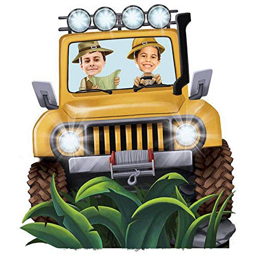 - BirthdayExpress Jungle Room Decor - Jeep Cardboard Standup