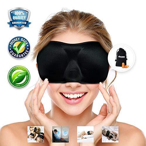 Sleep Mask, Super Soft, Pressure-Free for Sleep, and Adjusta