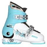 Roces Idea Up G Girls Ski Boots - 19-22/White-Light Blue-Black