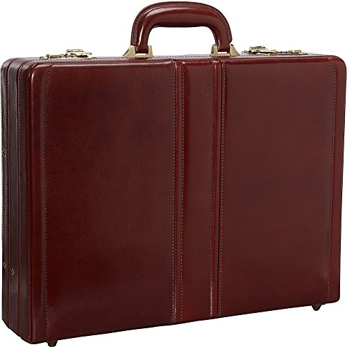 Mancini Italian Leather Expandable Attache Case - ()