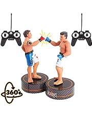 deAO RC Figuras de Boxeo Set de 2 Robots Boxeadores Golpea y Derriba Luchadores MMA a Control Remoto Muñecos de Acción