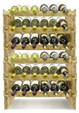 6 bottle wine rack wood - Sorbus 6-Tier Stackable Bamboo Wine Rack— Classic Style Wine Racks for Bottles— Perfect for Bar, Wine Cellar, Basement, Cabinet, Pantry, etc.— Holds 36 Bottles (6-Tier, Natural)