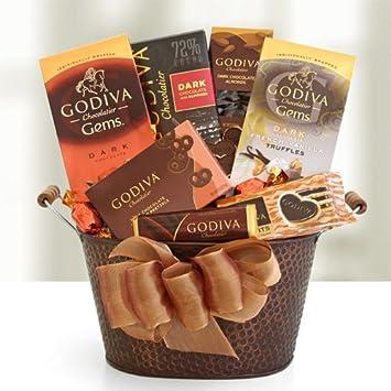 Amazon.com : Godiva Dark Chocolate Decadence Gift Basket : Gourmet ...