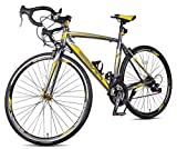 Merax Finiss Aluminum 21 Speed 700C Road Bike Racing Bicycle Shimano (Yellow & Grey, 54 cm)