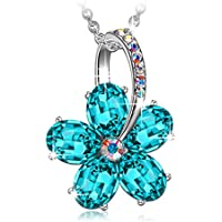 SIVERY 'Dream Flower' Women Necklace Pendant Christmas Day Gifts