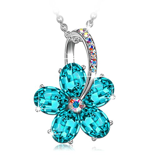 SIVERY 'Dream Flower' Pendant Women Necklace wi...
