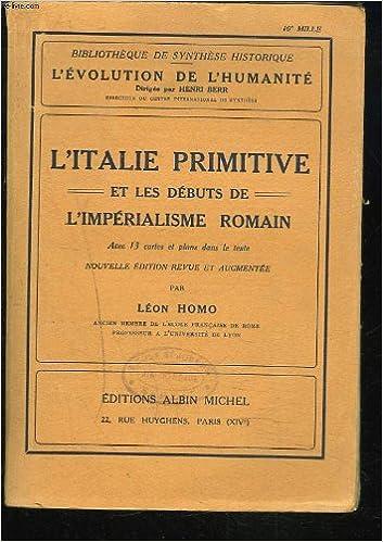 L'Italie primitive et les débuts de l'impérialisme romain. pdf ebook