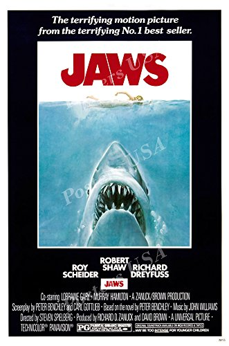 Posters USA - Jaws Movie Poster GLOSSY FINISH) - MOV015 )