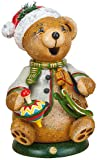 Small Figures & Ornaments Hubiduu gnome Teddy's rocking horse - 14cm / 5,5inch - Hubrig Volkskunst