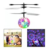 Itian Flying Ball Built-in Shining LED Lighting RC Flying Ball, RC infrared Induction Helicopter Ball Flying Flash Disco Colorful LED Ball Helicopter For Kids