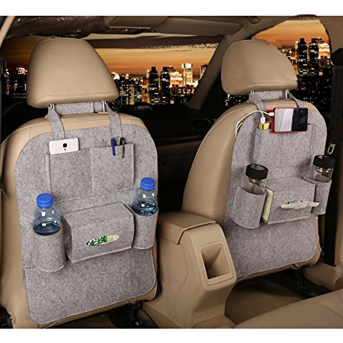 M'Baby 1pc Seat Back Car Organizer Woolen Felt - Driver Protector