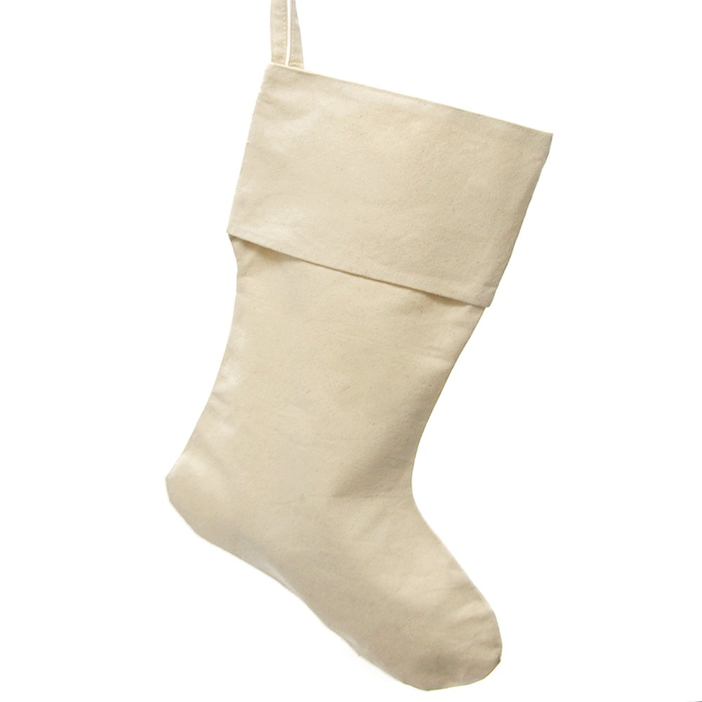 Homeford FHV000T15377 Canvas Natural Christmas Stocking, 24''