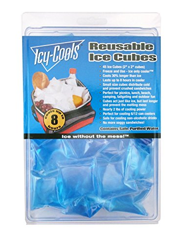 Icy Cools BLUE Reusable Ice Cubes for Coolers, Lunchboxes and More!]()