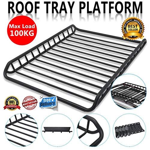 GOTOTOP Roof Rack Universal Aluminium Alloy Roof Rack Rack Car Roof Rails Luggage Rack 124cm//133.5cm Optional