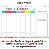 HITSAN magnetic chores chart dry erase board wall sticker kids weekly planner to do list reward chart 60 40 cm 6040ZLB02-1