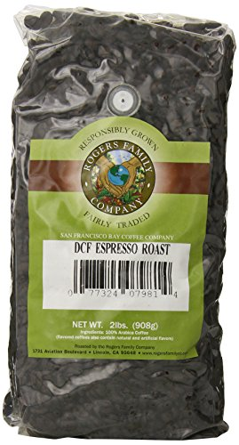 San Francisco Bay Coffee Whole Bean, Decaf Espresso Roast, 32 Ounce