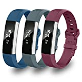 Greeninsync Fitbit Alta HR Replacement Band, Fitbit Alta Accessory Bands Large Watch Buckle Wristbands for Fitbit Alta/Fitbit Alta HR Strap Bracelets W/ Same Color Metal Clasp and Fastener (3Pack)
