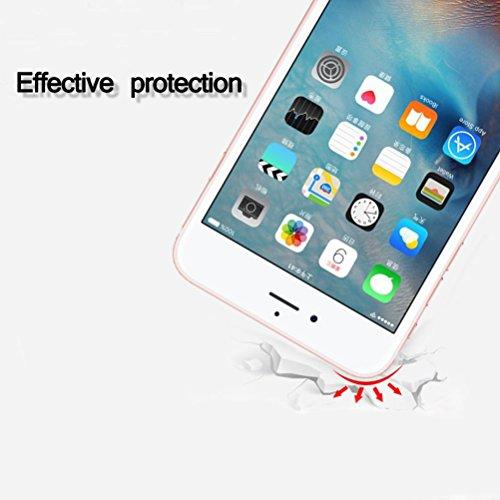 Funda iPhone 7, iPhone 8 Caso de Gel de Silicona Transparente para TPU Custodia [con Protector de Pantalla de Vidrio Templado] para iPhone 7 / iPhone 8 - Cat #10