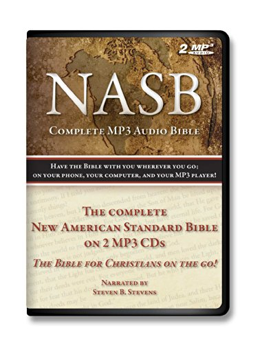 New American Standard Bible on MP3 Holy Bible Complete Old and New Testament on 2 audio MP3s-Digitally recorded with a durable book style case with individual protecive postions.