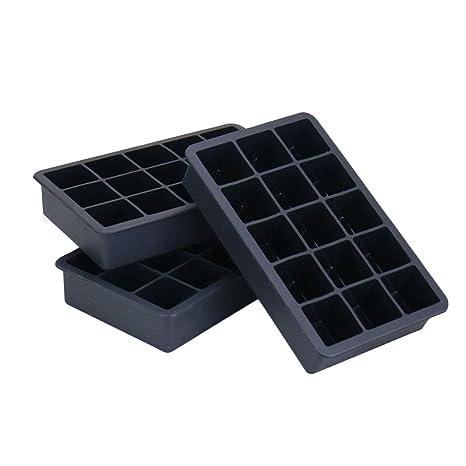 Joyoldelf 3piezas - Moldes de silicona para cubitos de hielo, 3,3 cm,