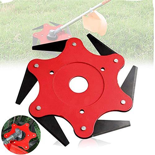 6 Teeth Brush Cutter Garden Grass Trimmer Head Steel Blade Weeding Machine Blade Heads Razors 65mn Lawn Mower