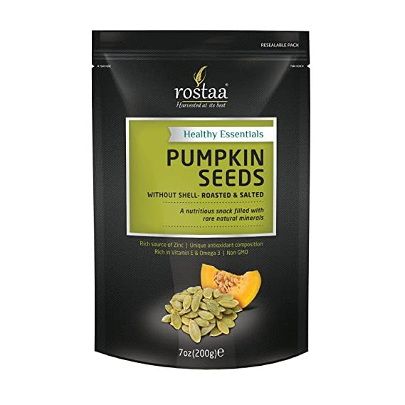 Rostaa Pumpkin Seeds Without Shell Roasted Salted Pouch, 200 g