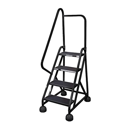 Admirable Cotterman St 402 A2 C7 P5 4 Step Rolling Ladder Antislip Spiritservingveterans Wood Chair Design Ideas Spiritservingveteransorg