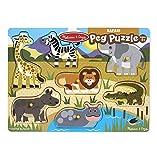 Melissa & Doug World of Animals Wooden Peg