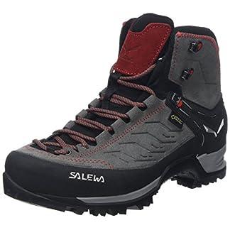 Salewa Herren MS Mountain Trainer Mid Gore-TEX Trekking- & Wanderstiefel, Charcoal/Papavero, 42 EU 8