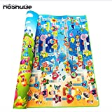 0.5cm Double Side Baby Play Mat Eva Foam Developing Mat for Children Carpet Kids Toys Gym Game Rug Crawling Gym Playmat Gift Waterproof and Easy to Clean (Ocean, 180x120cm)