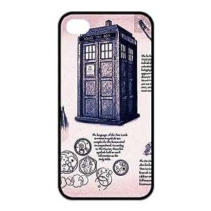 LeonardCustom Doctor Who Tardis Police Box Protective Hard Rubber Coated Cover Case for iPhone 4 & iPhone 4S -LCI4U651