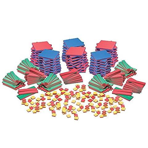 EAI Education QuietShape Algebra Tiles Bulk Set - 30 Sets - Algebra Tiles Student Set