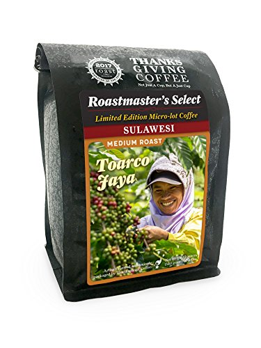 Thanksgiving Coffee Sulawesi Toarco Jaya Medium Roasted Whole Bean Coffee - 12 Ounce Bag