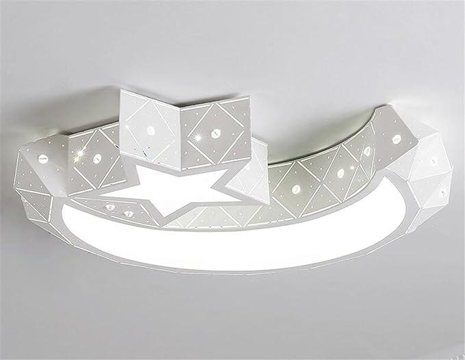 Plafoniere Camera Bambini : Malovecf star moon ferro lampada da soffitto led camera letto