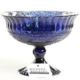 blue glass bowl - Koyal Wholesale Compote Bowl Centerpiece Mercury Glass Antique Pedestal Vase, Floral Centerpiece, Wedding, Bridal Shower, Home Décor (7