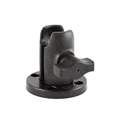 RAM Single Socket Arm with Round Swivel Plate